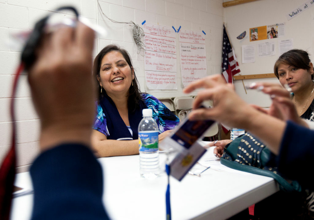 Incumbent LAUSD Board President Monica Garcia at her East LA campaign office.