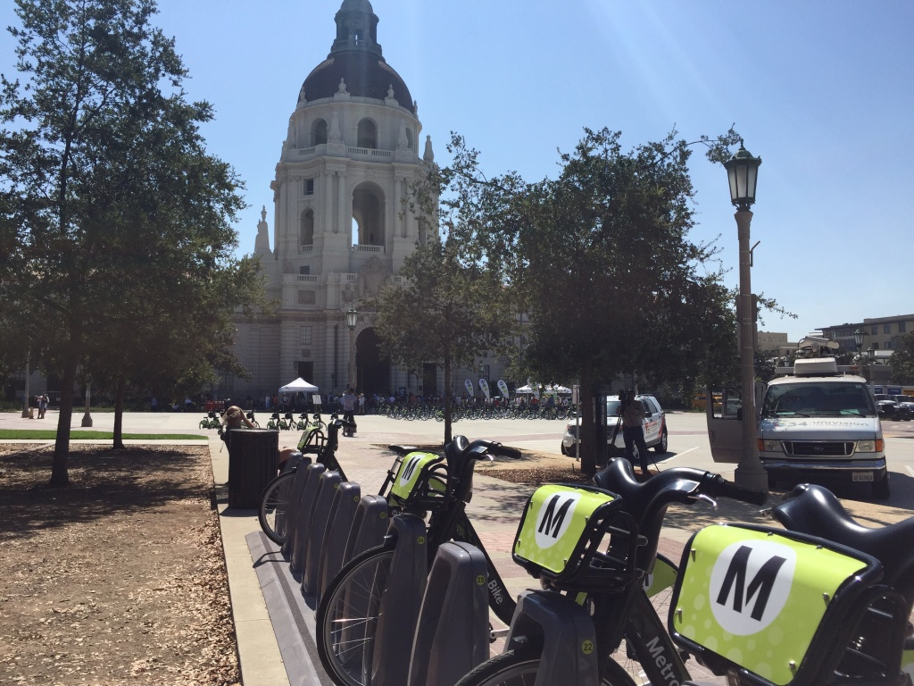 LA Metro launched a bike-share program in Pasadena in July 2017 with 300 cycles available at 30 stations around the city.