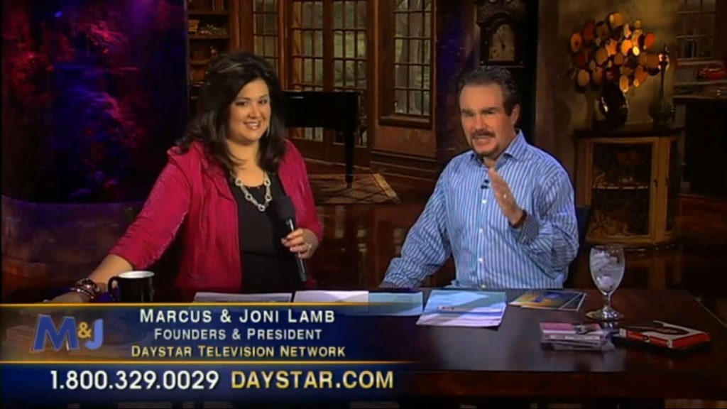 Marcus and Joni Lamb, founders of Daystar, also host their own show, as seen in this screenshot from their network. With $233 million in assets, Daystar is the largest religious television network in America, that also calls itself a church.