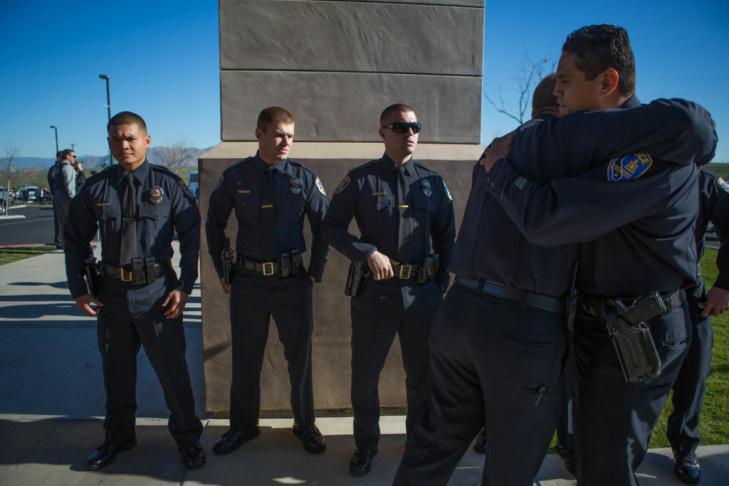 Michael Crain Funeral Dorner Shooting Riverside Funeral