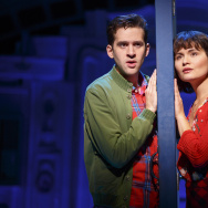 "Adam Chanler-Berat and Phillipa Soo in ""Amélie, A New Musical"" at Center Theatre Group/Ahmanson Theatre. ""Amélie, A New Musical"" plays through January 15, 2017."