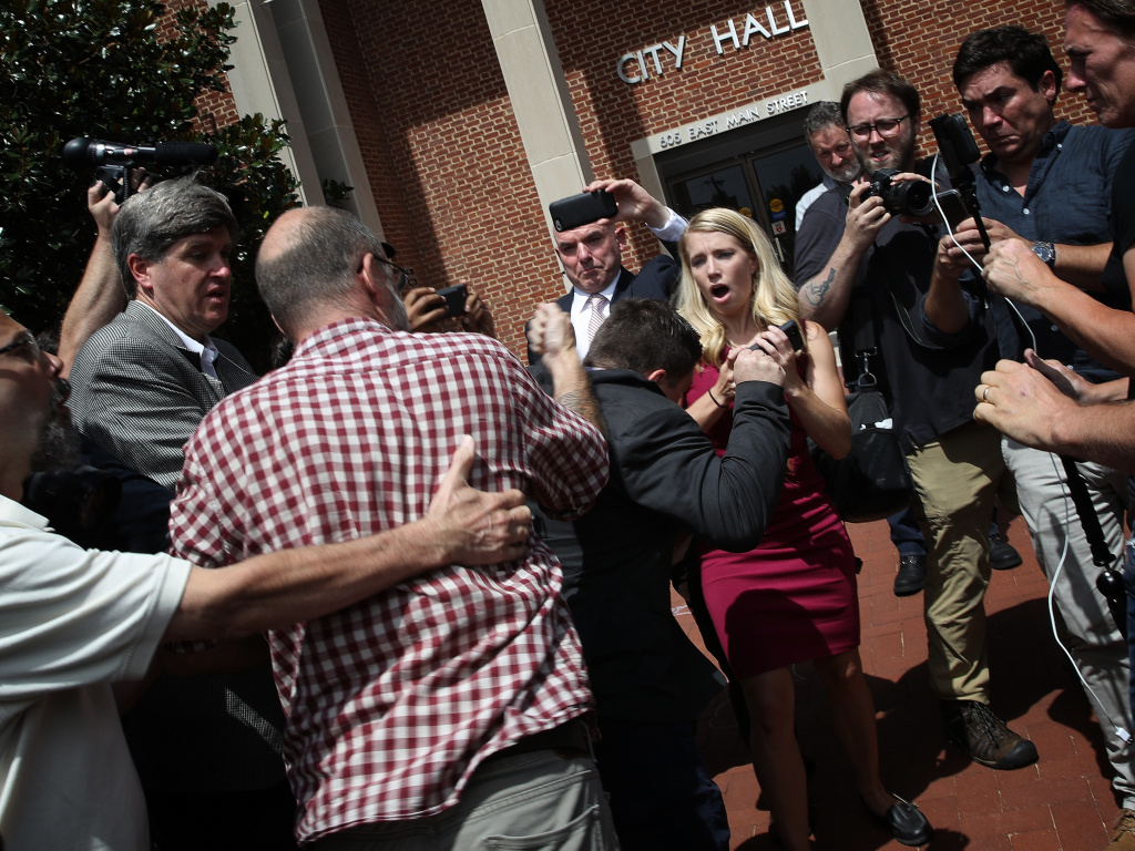 Prosecutors and a local TV station identified Jeffrey Winder as the man who threw a punch at Jason Kessler, organizer of the 2017