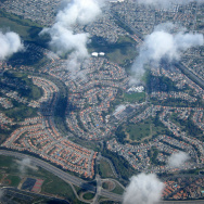 Los Angeles suburbs with cul-de-sacs surrounded by freeways