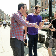 "John Oliver is the special guest on Billy Eichner's ""Billy On The Street."""
