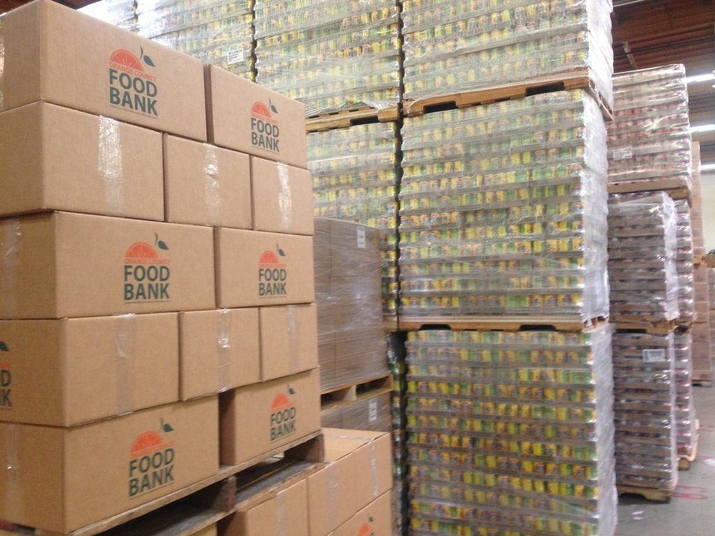 Rows and rows of food fill the Orange County Food Bank, but it's not nearly enough to feed all those in need.
