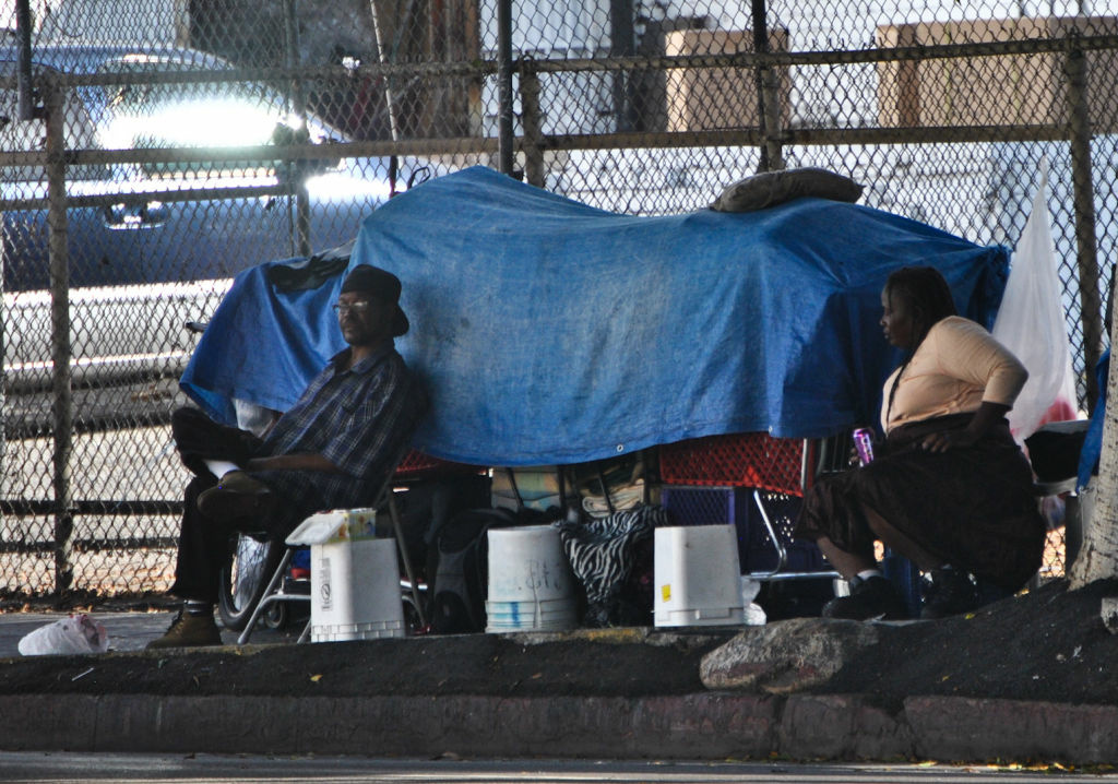 L.A.'s Skid Row contains one of the highest concentrations of homeless people in the country.