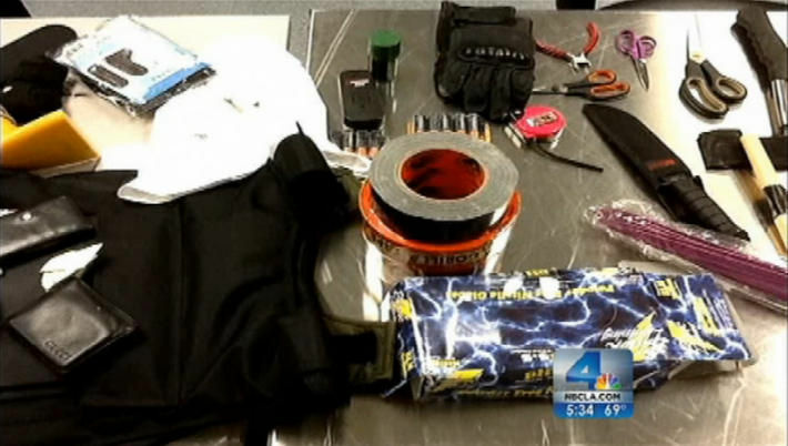 Items found in Yongda Huang Harris luggage at LAX