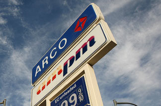 An Arco gas station in Pasadena. It won't be around for much longer.