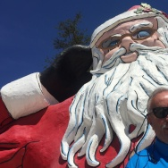 Santa Clause and Mike Barber, Founder and Race Director for Santa to the Sea