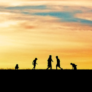 kids summer silhouette