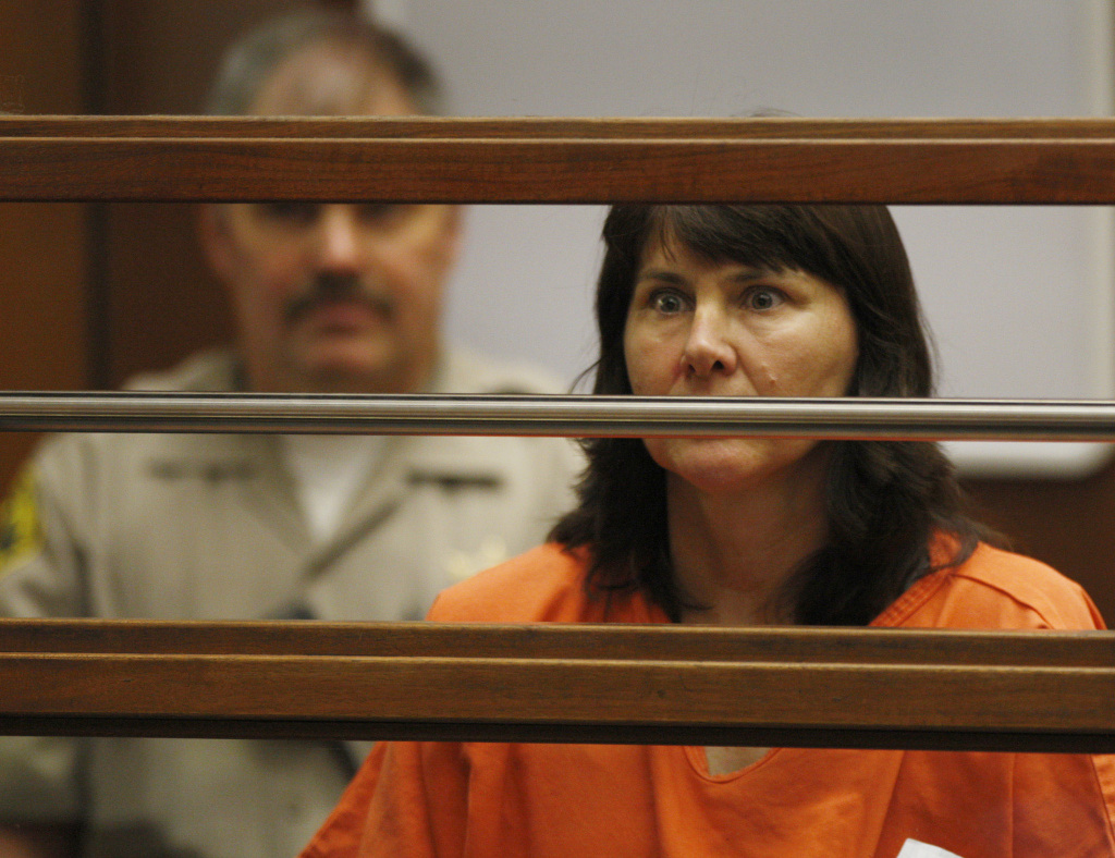 Veteran LAPD detective Stephanie Lazarus, 49, appears at the Criminal Justice Center for her arraignment on murder charges June 9, 2009 in Los Angeles.