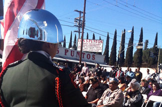 Veterans Day ceremony in Boyle Heights