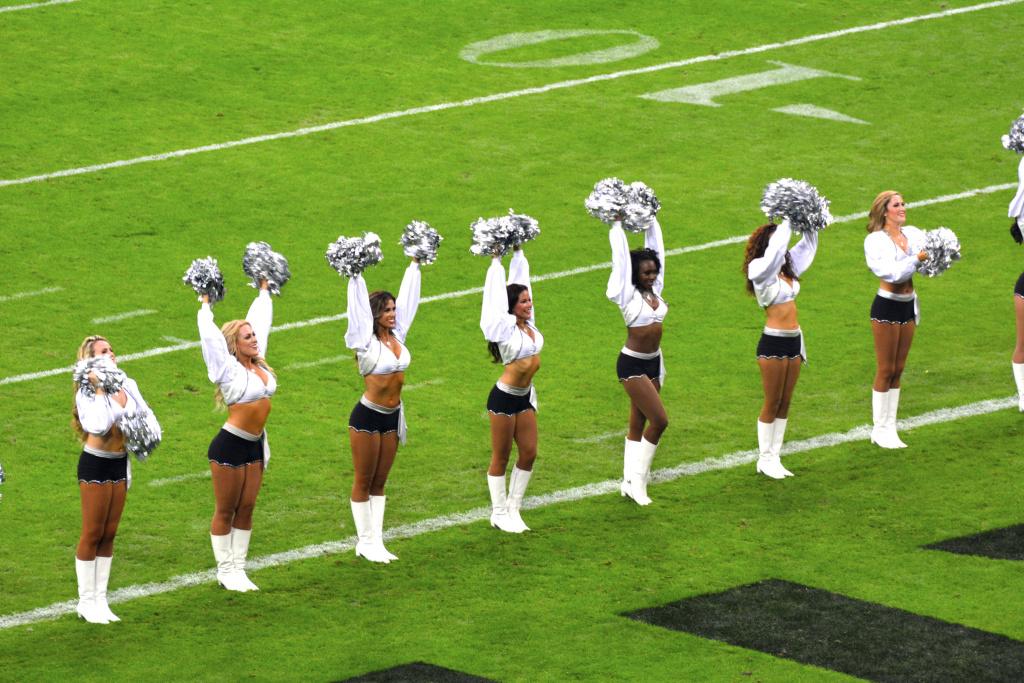 Oakland Raiderettes at Wembley Stadium on September 28, 2014