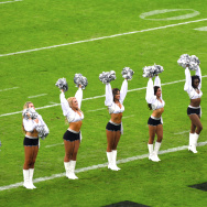 Oakland Raiderettes at Wembley Stadium on September 28, 2014