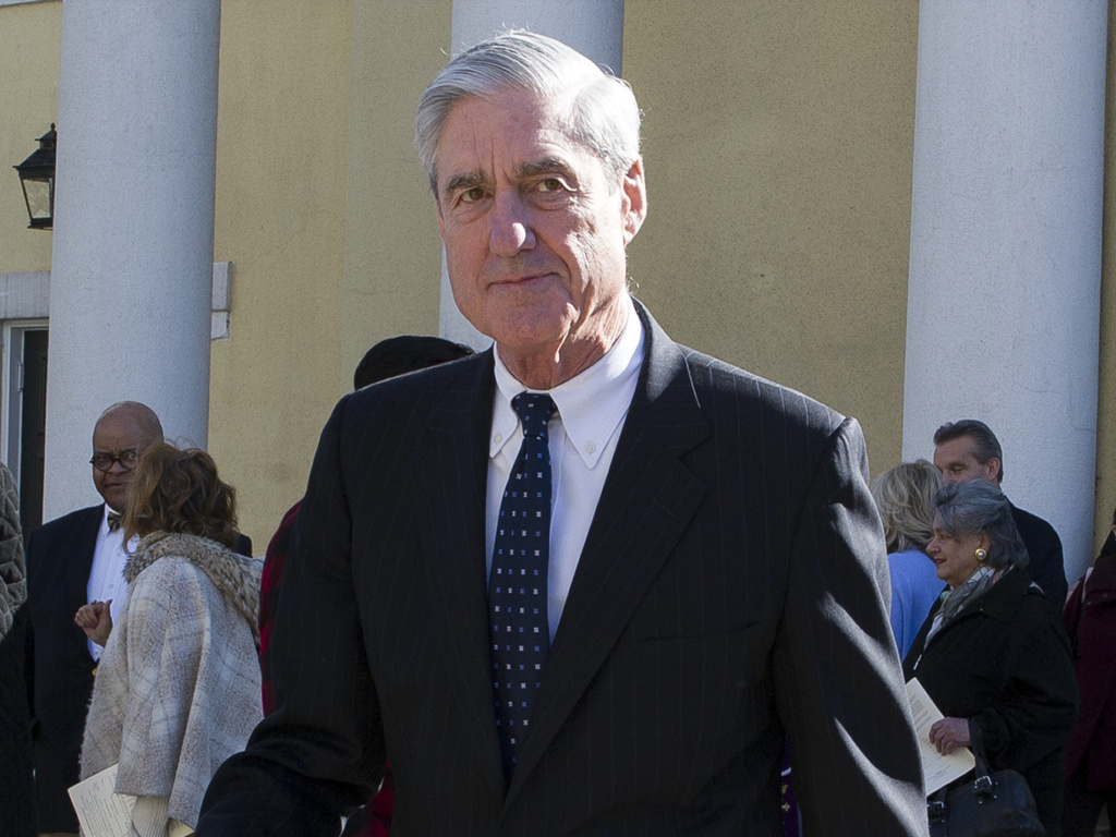 Special counsel Robert Mueller departs St. John's Episcopal Church, across from the White House in Washington on March 24, 2019.