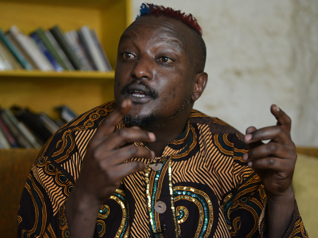 Kenyan author Binyavanga Wainaina, who died on Tuesday.
