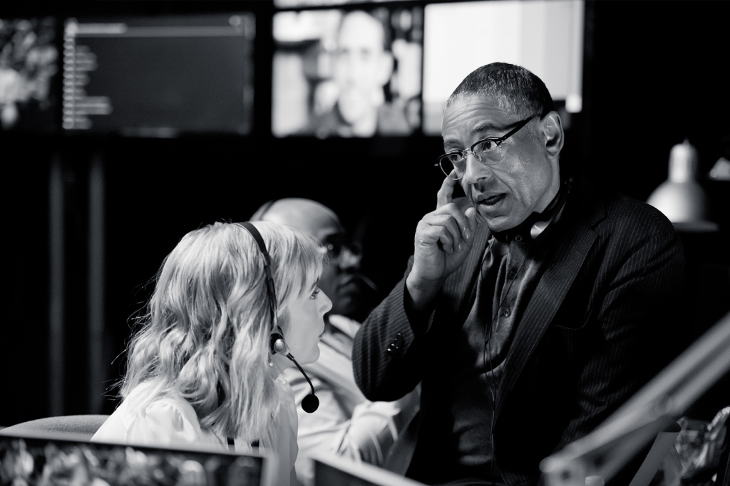 Giancarlo Esposito on the set of