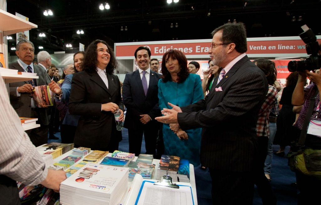A photo from the inauguration ceremony from LeaLA 2012. Organizers of Latin America's largest Spanish language book fair in Guadalajara open a 200-exhibitor fair in Los Angeles through Sunday.