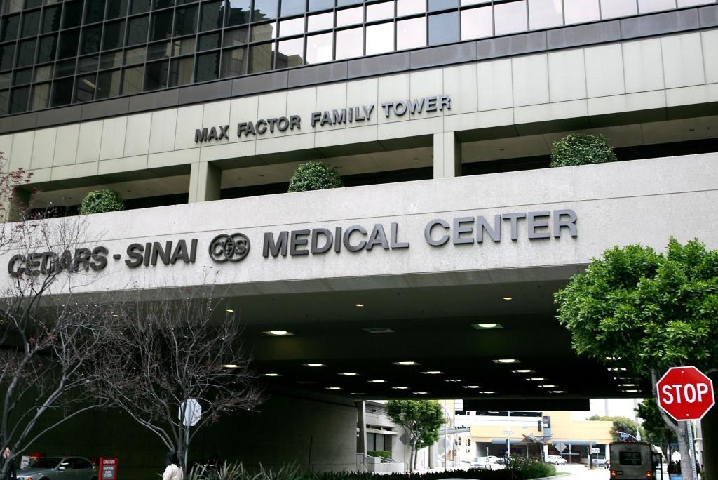 The exterior of Cedars-Sinai hospital on April 3, 2006 in Los Angeles, California.
