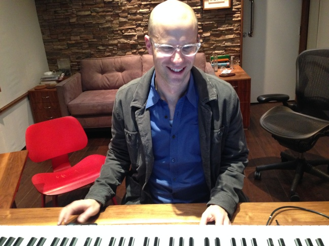 Music composer Theodore Shapiro works on the music for
