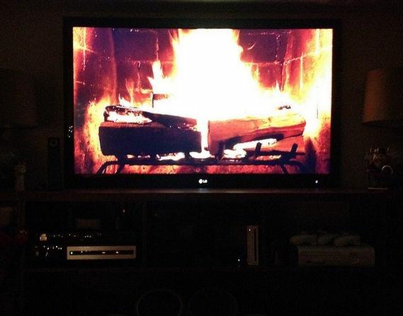yule log tv netflix