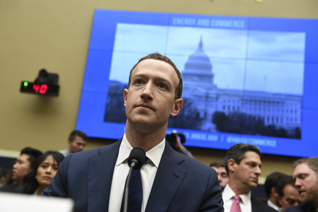 Facebook CEO and founder Mark Zuckerberg testifies during a US House Committee on Energy and Commerce hearing about Facebook on Capitol Hill in Washington, DC, April 11, 2018.