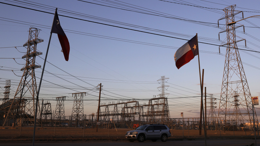 Cristian Pavon's family says negligence caused his death last week at age 11. Their home had been without power for two days as extreme cold hit Texas, a relative says. Here, an electrical substation is seen in Houston on Sunday.