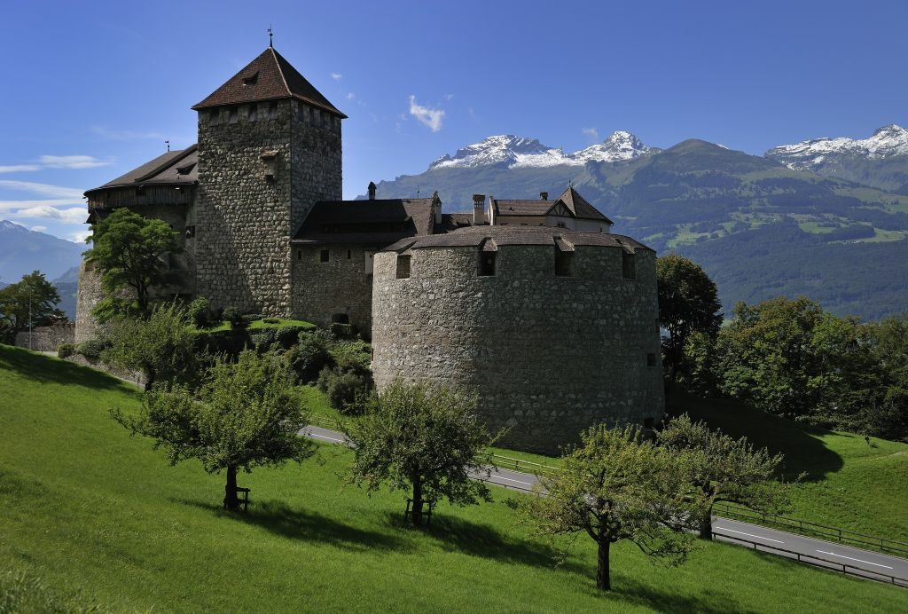 The Castel of Vaduz, home of the Liechtenstein princely family is seen on September 3, 2010 above Vaduz.