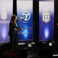 LOS ANGELES, CA- 100516- U.S. California Senate debate between Atty. Gen. Kamala Harris and Orange County Rep. Loretta Sanchez at Cal State LA on October 5, 2016. Photo by Cal State LA