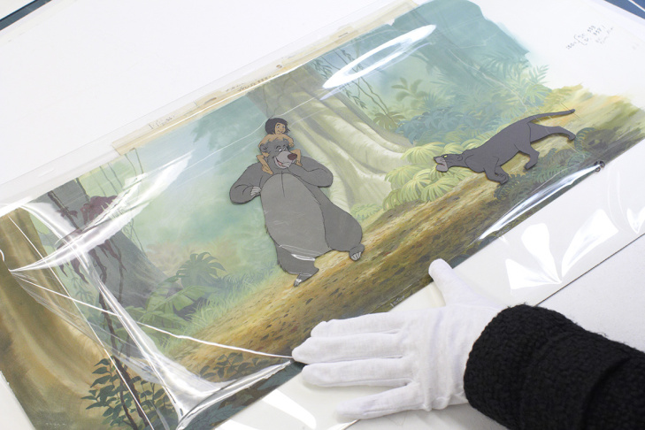 An animation cel from the Disney film,