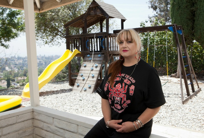 Lisa Smith at her home.