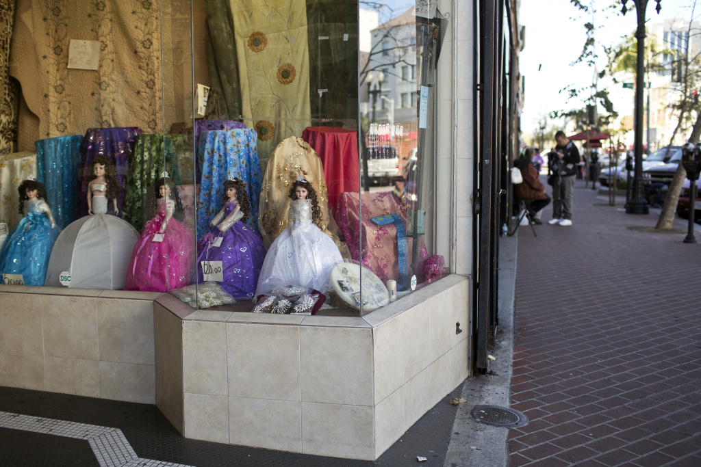 FILE PHOTO: A shop in downtown Santa Ana. The city last month declared itself an immigrant-friendly sanctuary city.