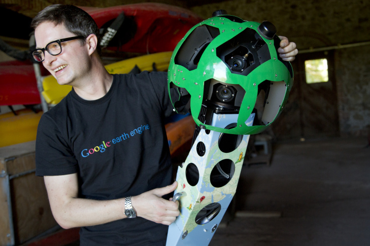Kirk Klausmeyer with Google Trekker