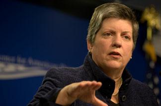Homeland Security Secretary Janet Napolitano.