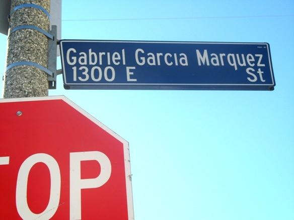 Gabriel Garcia Marquez was honored in 2003 when part of Clarence Street, which had been home to a Boyle Heights gang, was renamed Gabriel Garcia Marquez Street.