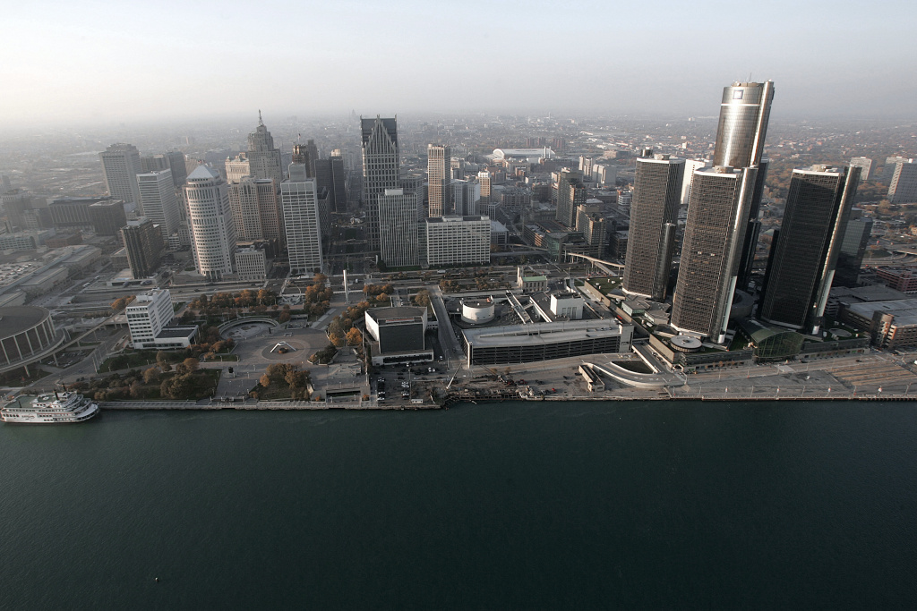In this Nov. 2, 2005 file photo, the Detroit skyline is shown along the Detroit River. A judge on Friday approved Detroit's plan to get out of bankruptcy, ending the largest public filing in U.S. history and launching the city into a turnaround that will require discipline after years of corruption, budget-busting debt and an exodus of residents.
