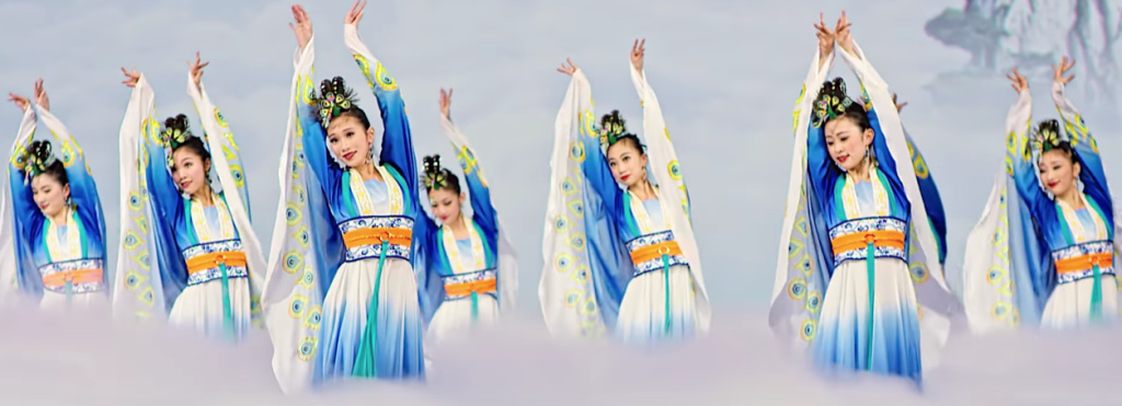 Shen Yun features dozens of dancers, a live orchestra and animated backdrops.