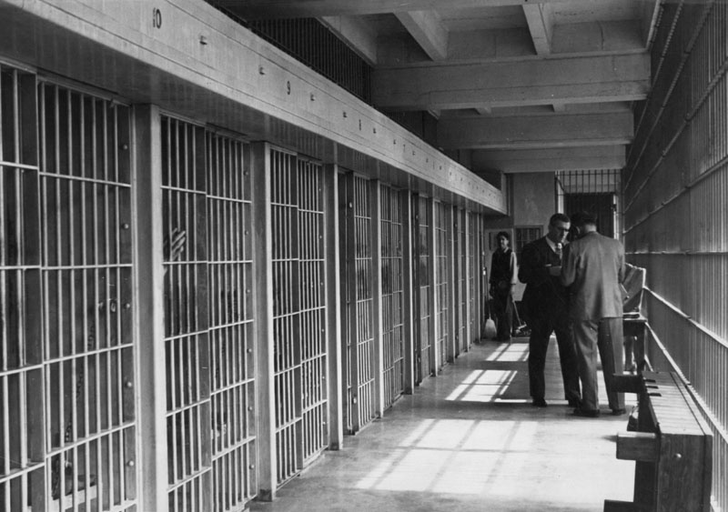 An archival photo of Lincoln Heights Jail.