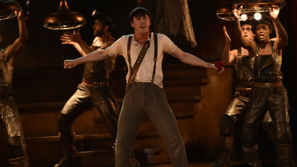 The cast of <em>Hadestown </em>performed at the Tony Awards on Sunday night, as the show won eight awards.