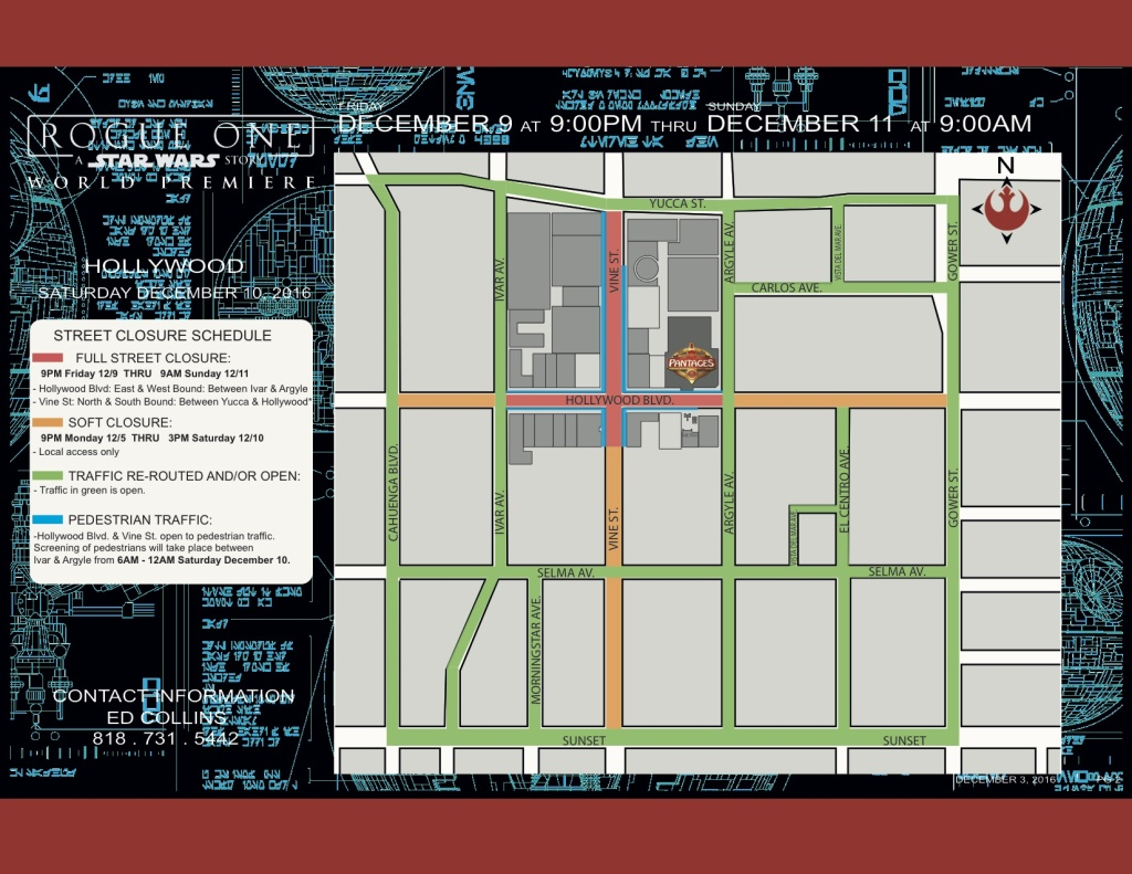 A street closure map showing the streets that are closed Friday night through Sunday morning.