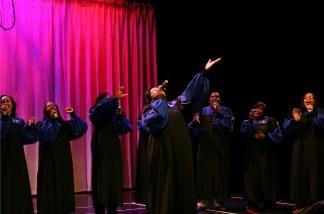 The Howard Gospel Choir singing