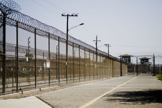The California Institution for Men prison fence in Chino, California. File photo.