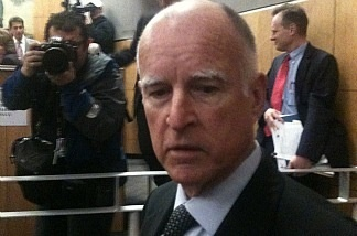 Gov. Jerry Brown urged Republicans to support his plan for plugging the state's massive budget gap during a meeting on Feb. 24, 2011.