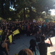 Students turn out to protest campus racial bias at Claremont McKenna College on Thursday, November 12, 2015.