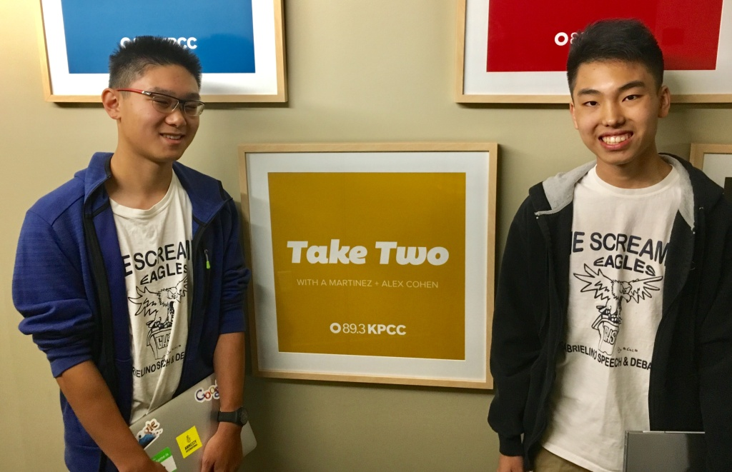 Left to right: Ethan Tan and Michael Hong