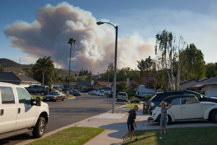 Smokejumpers make their way towards a fire west of Thousand Oaks on May 2, 2013.