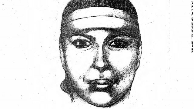A police sketch of the woman believed to be the main suspect in murdering bus drivers in Ciudad Juarez.