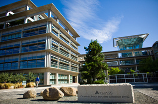 The California Public Employees' Retirement System building in Sacramento, California. CalPERS, the state's public employees retirement fund, reported a loss of 23.4% in  2009.