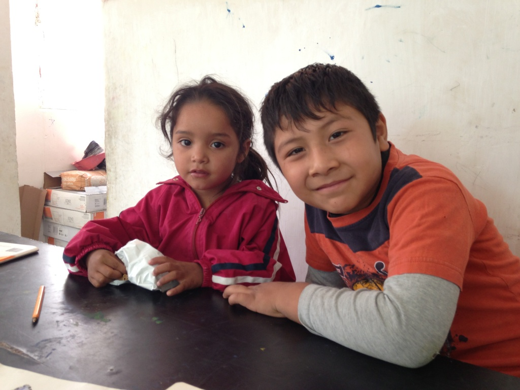 Kimberly Torres and Ulises Galindo are among the children who regularly visit the study center Los Soles in Ciudad Juárez.