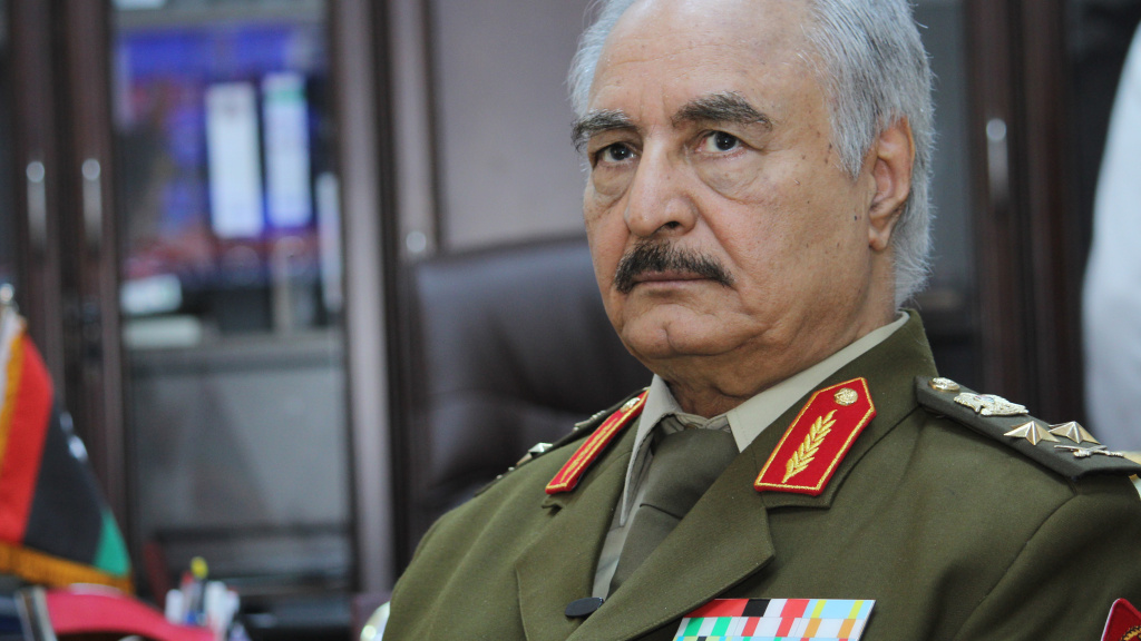 Gen. Khalifa Hafter is Libya's former top army chief. He now leads the Libyan National Army, which is advancing toward the U.N.-backed government in Tripoli.